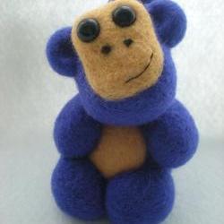 Custom Order for Joe - Needle Felted Purple Monkey